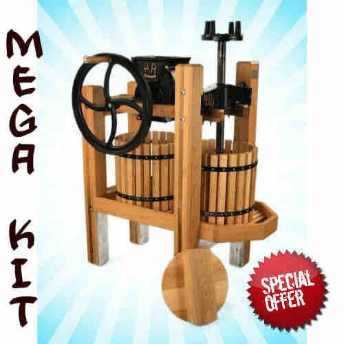 American Harvester Cider Press & Grinder MEGA Kit
